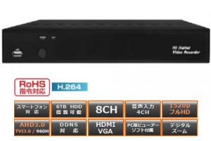 VAT-0810R / 8ch デジタルビデオレコーダー